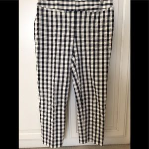 Loft gingham cropped pants